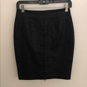 H&M Black Sheen Pencil Skirt